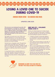 Losing a Loved One to Suicide during Covid-19