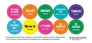 Compliment Stickers Te Reo Maori