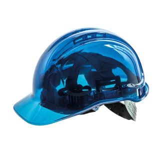 HARD HAT VENTED CLEARVIEW BLUE