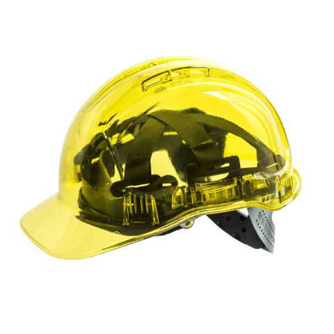 HARD HAT VENTED CLEARVIEW YELLOW
