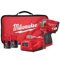 """MILW M12 KIT FUEL IMPACT WRENCH 1/2"""""""