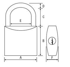 PADLOCK BRASS SECURITY 20mm
