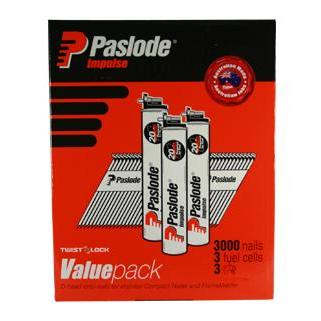 PASLODE IMPULSE 75 x 3.06 VALUE PACK