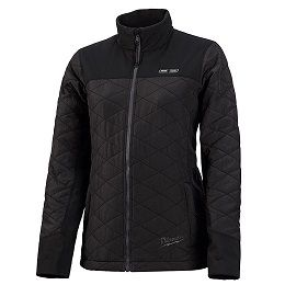 MILWAUKEE WOMENS BLACK MID-LAY HEATED JACKET