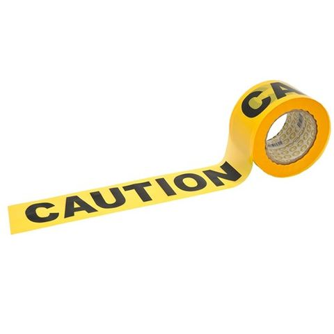 B/TAPE Yellow/Black Caution 100Mx75mm