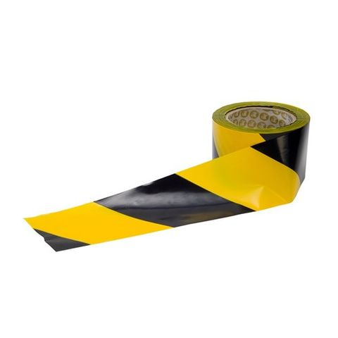 BARRIER TAPE Yellow/Black 100M x 75mm