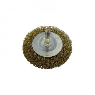 BRUSH CARD W75 w 6.3 ARBOR WHEEL