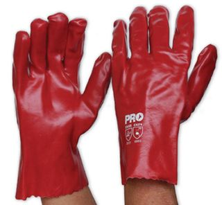 GLOVE RED DIPPED