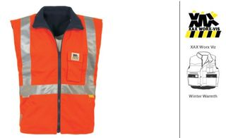 VEST REVERSIBLE HI-VIS CELSIUS YELLOW