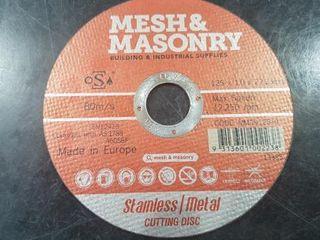 M&M CUT OFF DISC 125 X 1.0 X 22.2