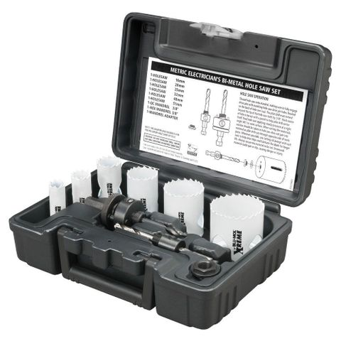 HOLESAW KIT BI METAL 9 PIECE