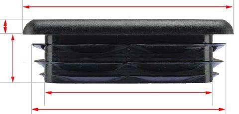 SQUARE CAP FLAT PLASTIC