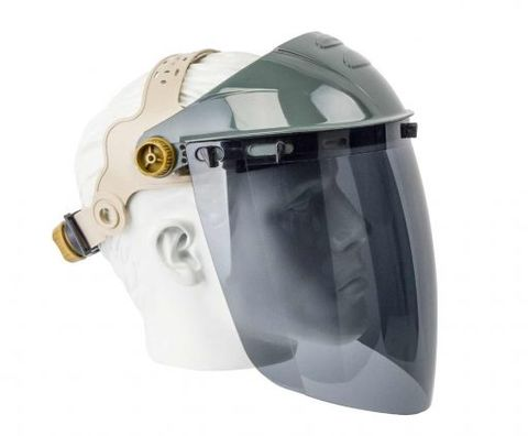FACE SHIELD SMOKE APOLLO w RATCHET VISOR