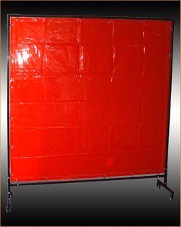 WELDING CURTAIN RED 1.8M X 1.8M