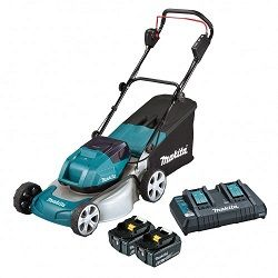 MAKITA 2 X 18V B/LESS LAWN MOWER KIT