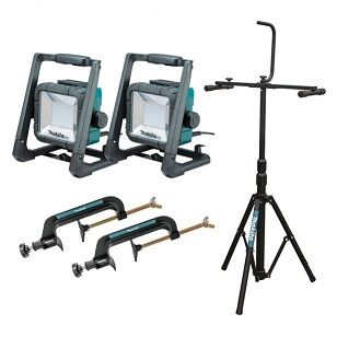 MAKITA LED WORKLIGHT X 2 WITH STAND
