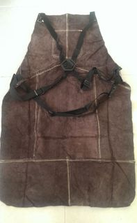 APRON WELDING LEATHER CHARCOAL LARGE
