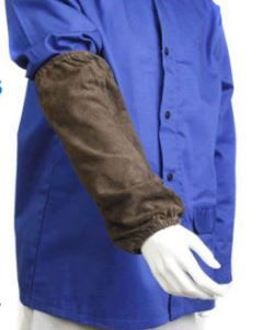 SLEEVES WELDERS LEATHER CHARCOAL 40CM