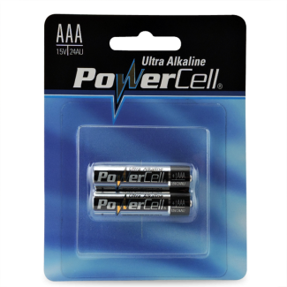 BATTERY POWERCELL ALK AAA - 2 PER PACK