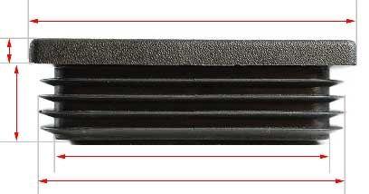 ELGATE CAP RECT FLAT PLASTIC 150x50
