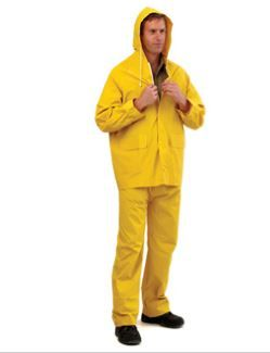 JACKET WET WEATHER YELLOW 3/4 lth Med