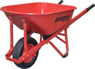 EASYMIX W/BARROW RED W STEEL TRAY 100LT