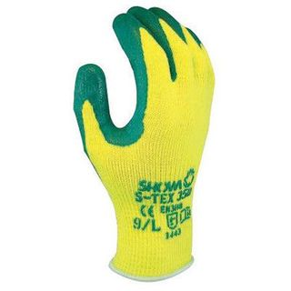 GLOVE GREEN/YELLOW LATEX DIPPED SIZE 10