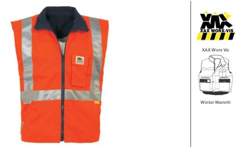 VEST REVERSIBLE HI-VIS CELSIUS ORANGE