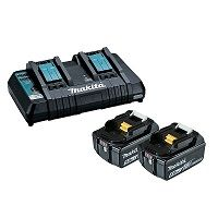 MAKITA 18V DUAL PORT CHARGER W/ 2X5.0AH
