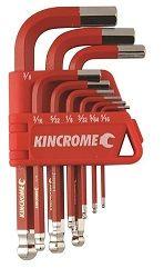 KINC KEY WRENCH SET 9PCE A/F SHORT
