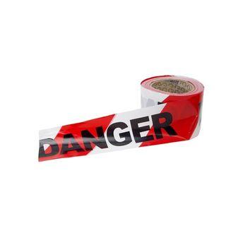 BARRICADE TAPE RED/WHITE 100M/75 DANGER