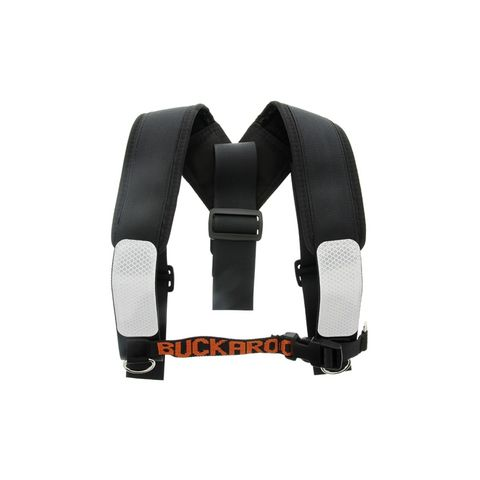 BRACES PADDED SHOULDER BLACK BUCKAROO