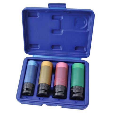 4P WHEEL NUT IMPACT SOCKET SET