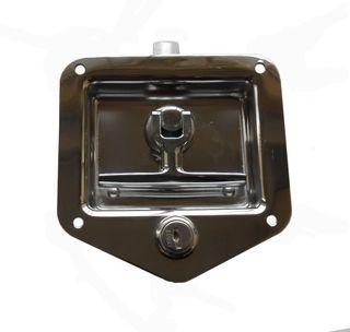 DROP-T HANDLE S/S TOOLBOX LOCK W/KEY