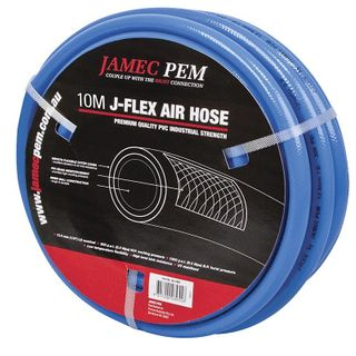 AIR HOSE PVC 10mm x 30m BLUE FITTED