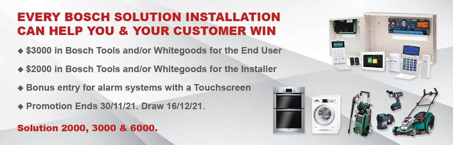 Bosch Solution Alarm Systems 2021 Promotion