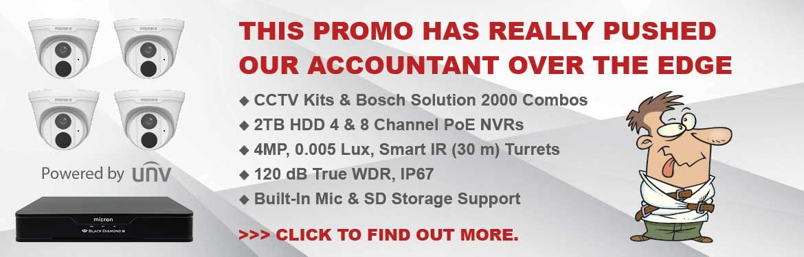 Great Deals on CCTV Kits and Bosch Solution 2000