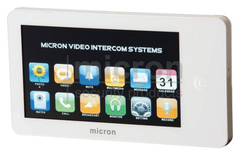 Micron MTS-W 7 Colour TOUCH SCREEN Monitor With MEMORY. Includes Power Supply. White