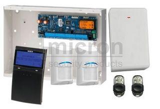**DISCONTINUED**REFER TO PROX KIT SAK6SPBWPM AT SAME PRICE**Bosch 6K Panel + 1 x SCP710 BLACK Graphic Keypad + 2 RF Pir 2 x Metal RF Keyfob + RX