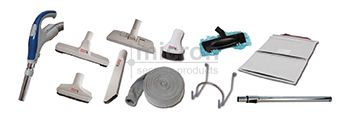 12 Meter DELUXE Switched Hose Wand and Grey Tools + Tool Bag + Knitted Hose Sock + Hose Hanger