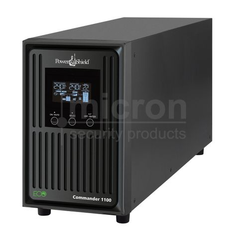 Power Shield Commander Tower Series 1100VA UPS. Inc 2 x 12V 7.2ah Battery