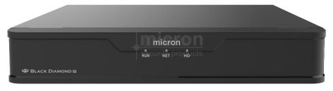 Micron BLACK DIAMOND NVR 8ch With 8 POE Ports. Fanless Single HDD Bay Includes 2TB HDD