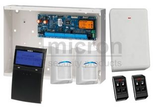 Bosch 6K + 1 x SCP732 BLACK SMART PROX Graphic Keypad + 2 x RF Pir 2 x Keyfobs + RX
