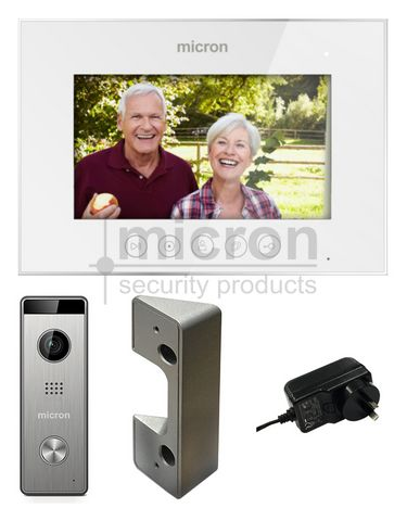 "Micron 7"" Touch Button Kit With Memory. Includes Surface Door Station & Power Supply"