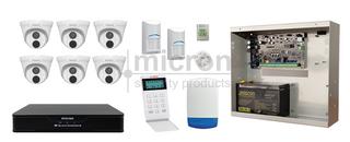 2K Alarm Kit & 8ch IP Kit Inc 8ch WD 2TB NVR, 6 x 4MP 2.8mm Turrets