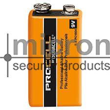 9 volt battery. Duracell