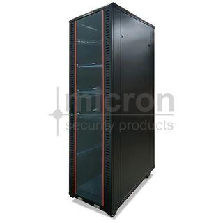 42RU 2055H x 600 Wide x 800 Deep. Inc 3 Shelves & 4 Fans