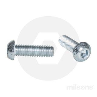 BUTTON HEAD SOCKET SCREW M10X16 ZINC
