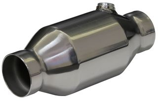 2 1/2in Round High Flow 200 CPI Metallic Catalytic Converter