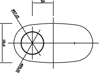 2 1/4in, 8in x 4in Oval Offset/Offset, 14in (350mm) Long, Megaflow Muffler - Medium - Aluminised